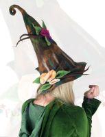 Whimsical earth  felt hat