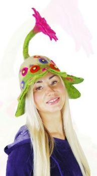 Flower power power felt hat
