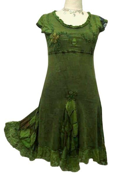 Gorgeous applique with lace hem dress