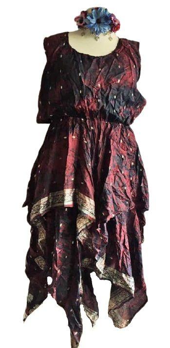 Recycled sari dress