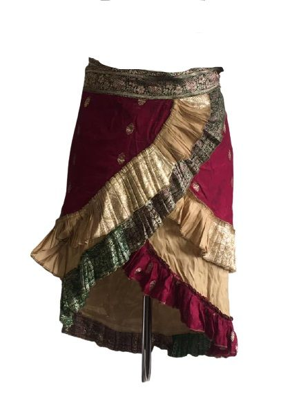 Beautiful  Indian fabric wrap  over skirt