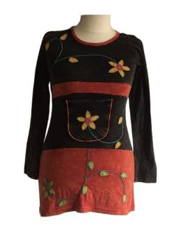 Applique pretty flower dress from Nepal