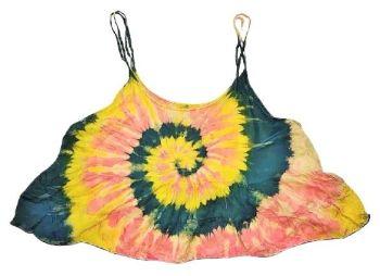 Pretty tie dye crop swing top