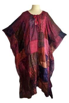 Silk patchwork kaftan