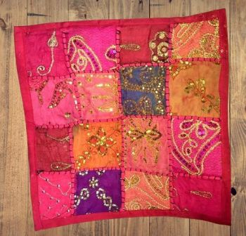 Decorated cushion cover