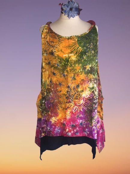 Sun and moons sleeveless pocket  top 18-26