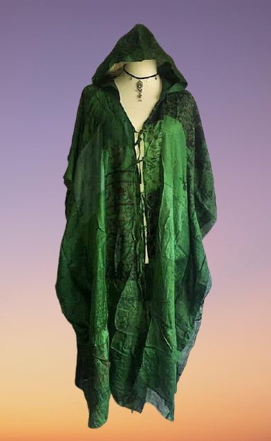 Stunning patchwork hooded robe  up to size 22