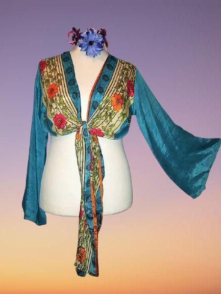 Sari bell sleeve wrap Tia top 12-16