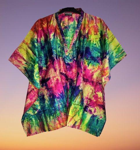 Beautiful Skye oboho  silk tie dye kaftan tops [2 looks]