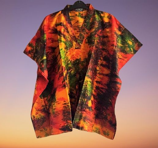Beautiful Skye boho  silk tie dye kaftan tops [2 looks]