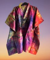 Beautiful Skye boho  silk tie dye kaftan top [2 looks]
