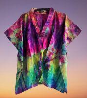 Beautiful Skye boho  silk tie dye kaftan top [2 looks]