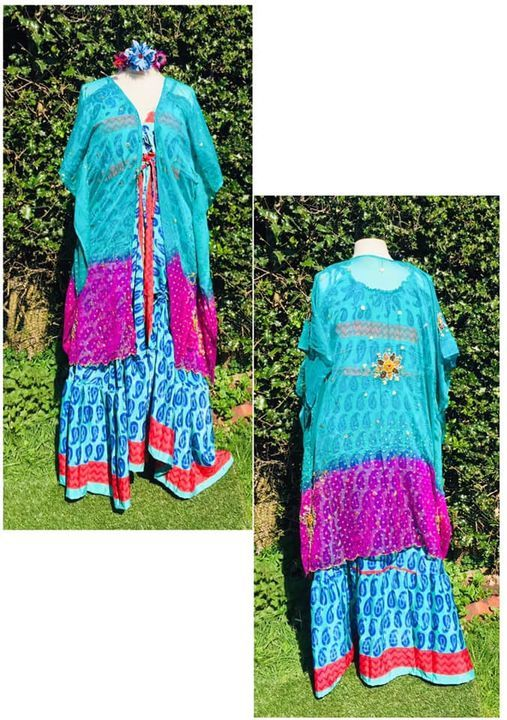 Beautiful beaded and sequined kaftan top