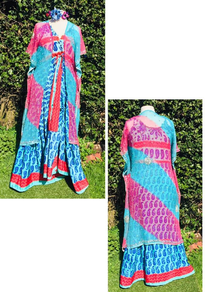 Beautiful beaded and sequined kaftan top