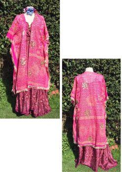 Beautiful sheer  sequined kaftan top