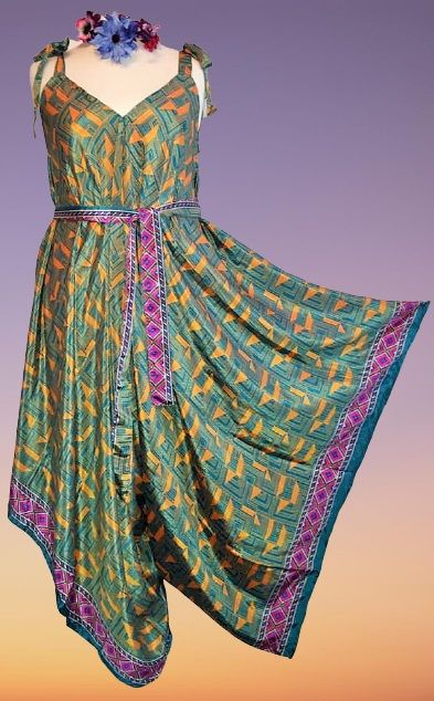 Beautiful jumpsuit with waist tie  14-24