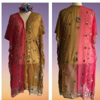 Beautiful sheer beaded and sequined kaftan top