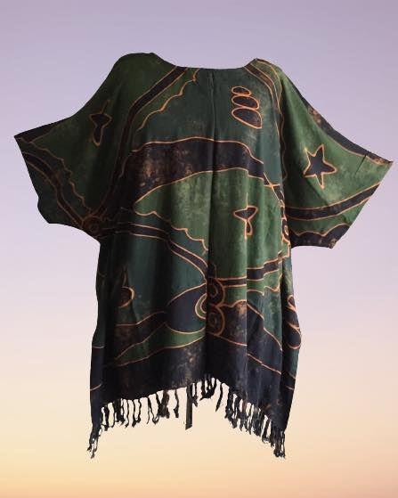 Artsy funky hippy batik plus size top