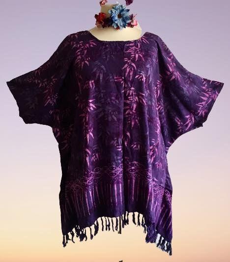 Funky hippy batik plus size top
