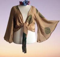 Sari bell sleeve wrap Tia top 14-24