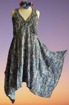Beautiful  pixie hem  Maria  dress [4 sizes up to  plus size]