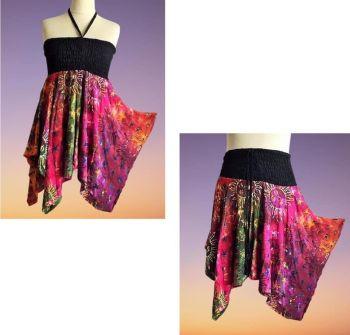 Faerie sun and stars  pixie hem top/ or wear as a skirt