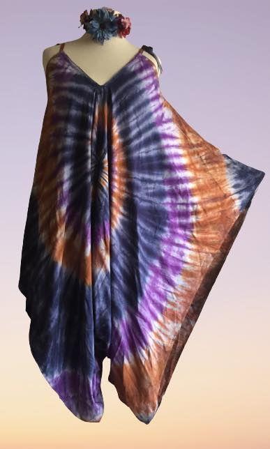 Tie dye shorter length romper