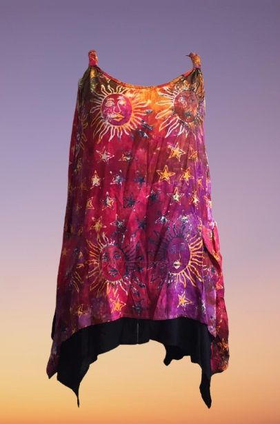 Sun and moons sleeveless pocket  top 18-22