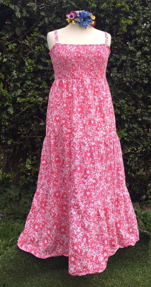Pretty maxi summer dress approx 16-18