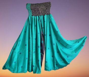 Gorgeous silk/viscose mix  palazzo trousers 12-18