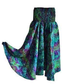 Tie dye palazzo trousers [Curvy Annie]
