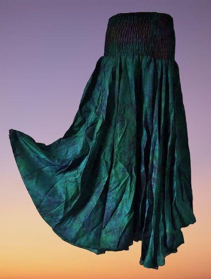 Tie dye palazzo trousers [Curvy Annie] 12-16 [LONG]