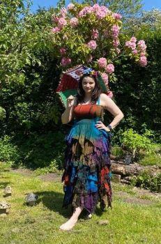Absolutely stunning Avalon tie dye frill dress
