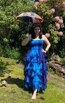 *Absolutely stunning Avalon tie dye frill dress