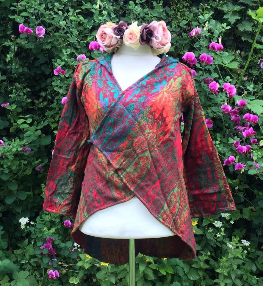 Gorgeous cashmelon wrap over jacket [two sizes available]