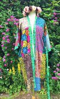 Gorgeous funky patchwork kimono 12-24