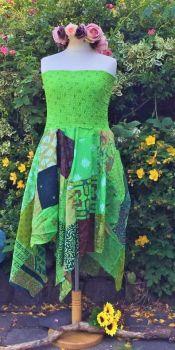 Gorgeous Jenna bandeau patchwork dress or wear as a skirt