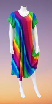 Lovely rainbow stripe dress