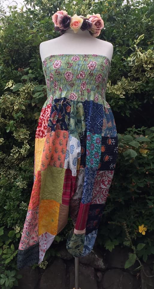 Gorgeous patchwork harems  or wear over bust