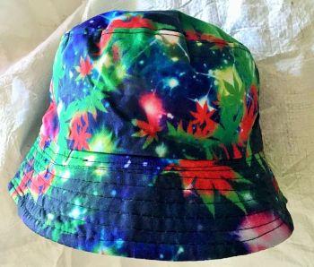 Leafy  tie dye  bucket hat
