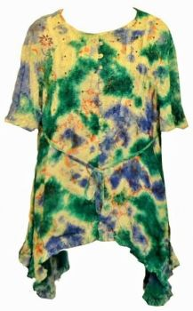 Gorgeous tie dye Elisa  sequin detail top plus size