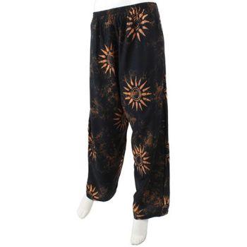 Black sun hippy trousers