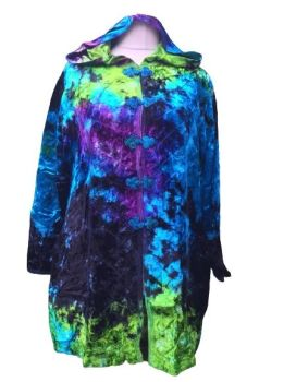 Gorgeous tie dye velvety jacket