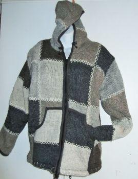 Unisex fleece lined patchwork woolie [see measurements] [large]