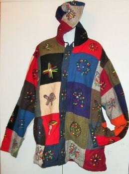 Gorgeous ethnic hippy patchwork jacket xl