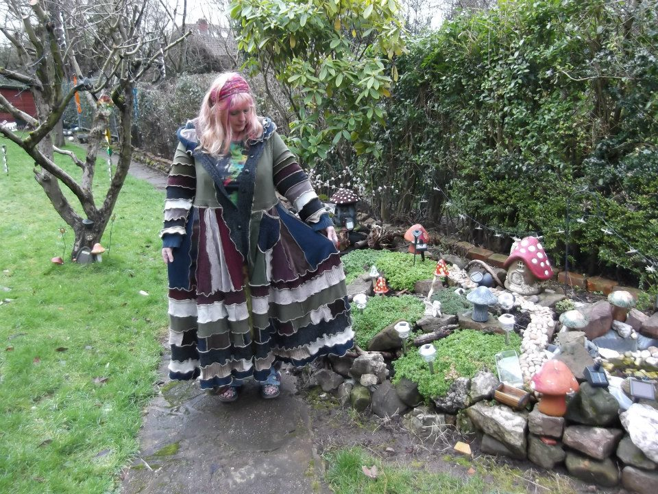 Gorgeous forest fae upcycled one of a kind pixie hooded sweater coat size 2