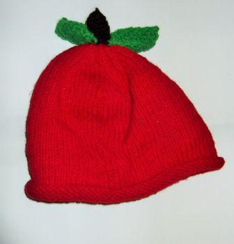 Funky fleece lined fair trade red apple  hat