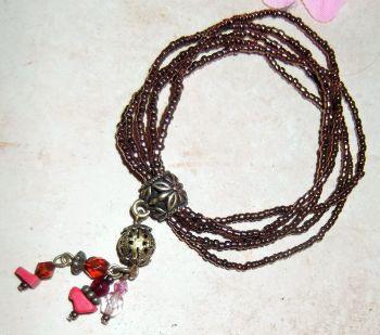 Pretty beaded hippy bracelet