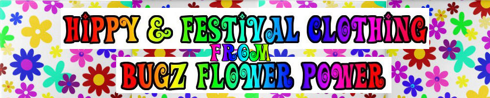 Hippy & festival clothing !, site logo.