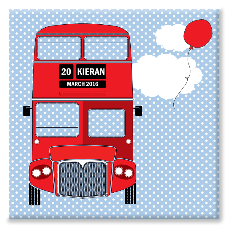 London Bus personalised canvas print